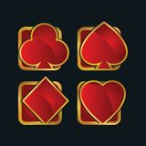 3d modern Playing Card Icon. Playful, modern, sleek, sophisticated and colorful 3d modern Playing Card Icon royalty free illustration