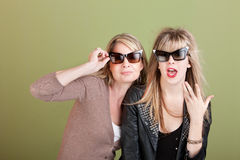 Playful Mom and Daughter Stock Image