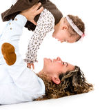 Playful mother and child Stock Photo