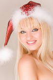 Playful mrs. Santa Claus Royalty Free Stock Photo