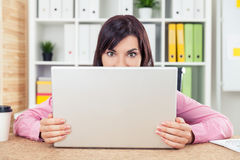 Playful office worker Royalty Free Stock Images