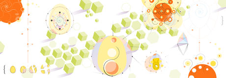 Playful Panoramic Abstract Background Royalty Free Stock Photo