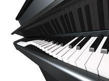 Playful piano. Keyboard dancing Royalty Free Stock Image