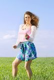 Playful pretty young woman Royalty Free Stock Image