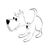 Playful pup outline. Vector illustration of a playful pup, outline Royalty Free Stock Photography