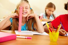 Playful pupil Stock Photography