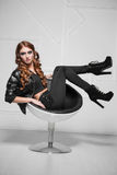 Playful red-haired lady Royalty Free Stock Photos