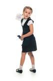 playful schoolgirl Stock Photo