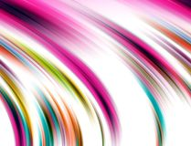 Fluid lines, background in purple pink hues, abstract background, fantasy. Playful shining sparkling fluid lines waves like shapes, in yellow pink white blue stock illustration