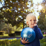 Playful smiling kid royalty free stock images