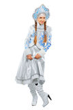 Playful snow maiden Stock Images