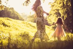 Playful in spring season. Family time. Beauty in nature stock photos