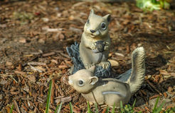Playful Squirrels. Made out of plastic Royalty Free Stock Photography