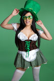 Playful St Patricks Girl Royalty Free Stock Photos