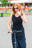 Playful stylish woman posing Royalty Free Stock Photos