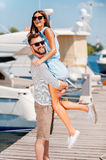 Playful summer couple. Royalty Free Stock Photo