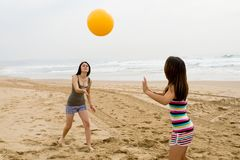 Playful teen girls Stock Image