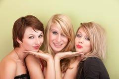Playful teen girls Stock Images