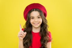 Playful teen model. Acting skills concept. Tips and tricks to loosen up in front of camera. Acting school for children. Girl artistic kid practicing acting royalty free stock photography