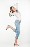 Playful teenager girl Royalty Free Stock Image