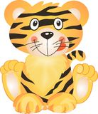 Playful Tiger. Image representing a friendly playful tiger, isolated on white, vector design Stock Image