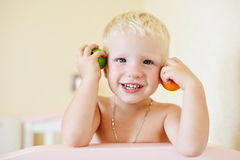 Playful toddler Stock Photography