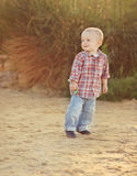 Playful toddler boy Royalty Free Stock Photos