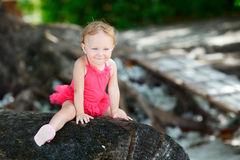 Playful toddler girl portrait Royalty Free Stock Images