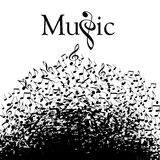 Playful typographic music graphic. Playful typographic fun in this whimsical music graphic vector illustration