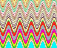 Playful waves shapes in rainbow colors Stock Images