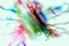 Playful white yellow pastel lines, abstract pastel hues Royalty Free Stock Photo