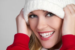 Playful Winter Girl Royalty Free Stock Photos