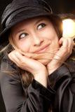 Playful woman portrait face Stock Photo