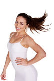 Playful Woman Tossing Hair Royalty Free Stock Photography