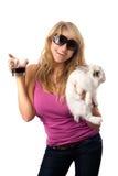 Playful young blonde Royalty Free Stock Photos