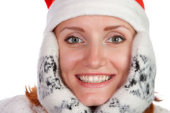 Playful young christmas girl Royalty Free Stock Photography