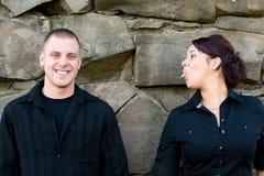 Playful Young Couple stock photos