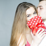 Playful young couple Stock Photography