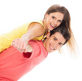 Playful young couple Stock Image