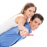 Playful young couple Royalty Free Stock Photography