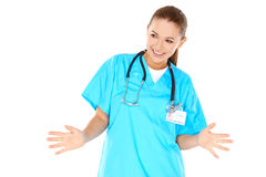 Playful young nurse or doctor Royalty Free Stock Photos