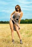 Playful young woman Stock Photos
