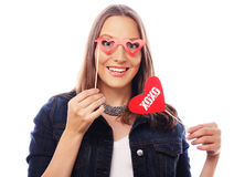 Playful young woman ready for party Royalty Free Stock Image