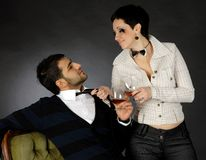Playfull couple Stock Photography