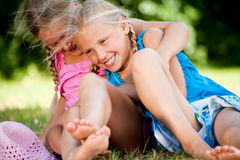 Playfull twins Royalty Free Stock Photography