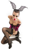 Playgirl με μια καραμέλα Στοκ Φωτογραφίες