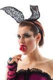 Playgirl με μια καραμέλα Στοκ εικόνα με δικαίωμα ελεύθερης χρήσης