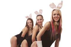 Playgirls 'sexy' no traje do coelho Fotografia de Stock Royalty Free