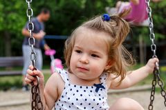 playgraund的小女孩 库存图片
