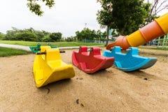 Playgroud στο πάρκο Στοκ Φωτογραφίες